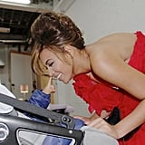 Beyoncé couldn't contain her smile with Blue in this backstage photos from June 2013. Source: Tumblr user Beyoncé