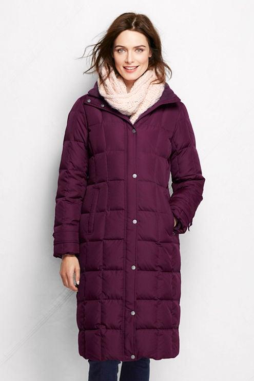 lands 39 end women 39 s down chalet long coat fashionable. Black Bedroom Furniture Sets. Home Design Ideas