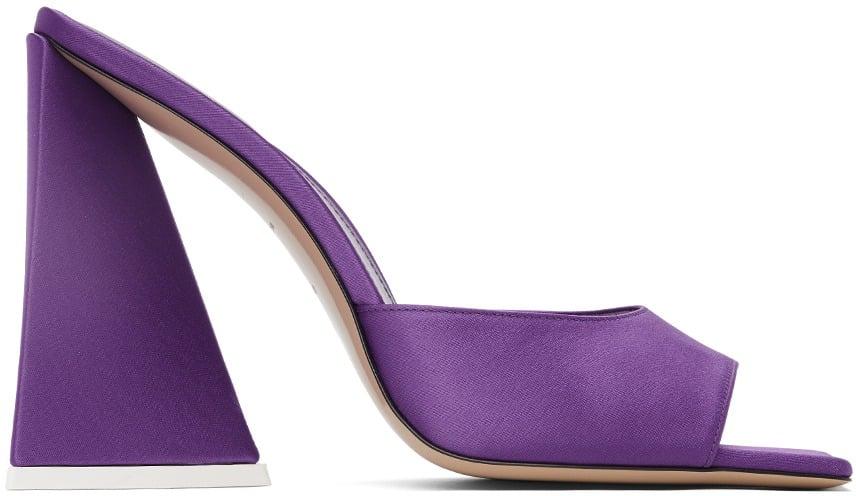 The Attico Ssense Exclusive Purple Devon Heeled Mules