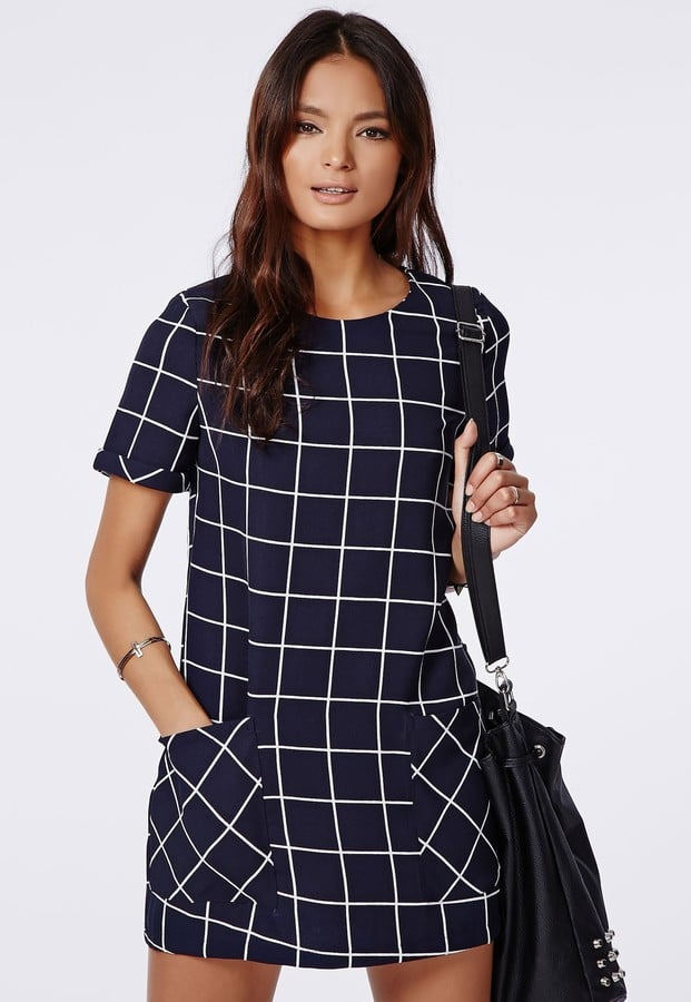 Missguided Boxy Grid Check Shift Dress