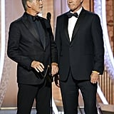 Pierce Brosnan and Will Ferrell at the 2020 Golden Globes