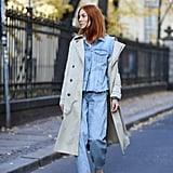 Do denim on denim with a great trench coat to tie it together.
