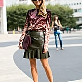 Polished in leopard print and leather.