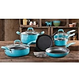 The Pioneer Woman Vintage Speckle 10-Piece Nonstick Preseasoned Cookware Set