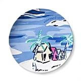 Island Scene Melamine Appetizer Plate