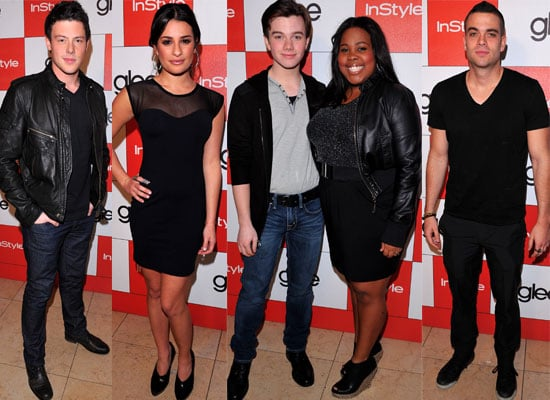 Video Clips of Episode 1 and 2 of Glee Airing in the UK on E4, Plus Photos of the Glee Cast at InStyle Party