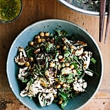 Roasted Cauliflower, Chickpea, and Quinoa Salad With Jalapeño-Lime Dressing