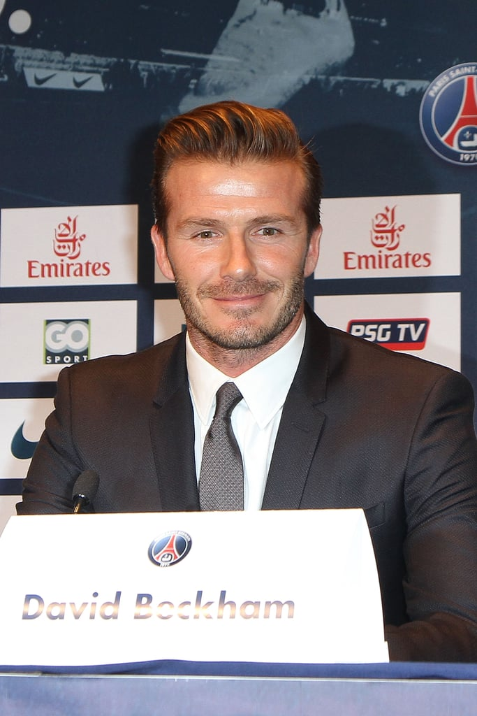 David Beckham held a press conference to announce he will officially join Paris St. Germain.