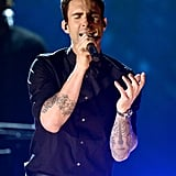 Adam Levine performed with Alicia Keys at the Grammys.