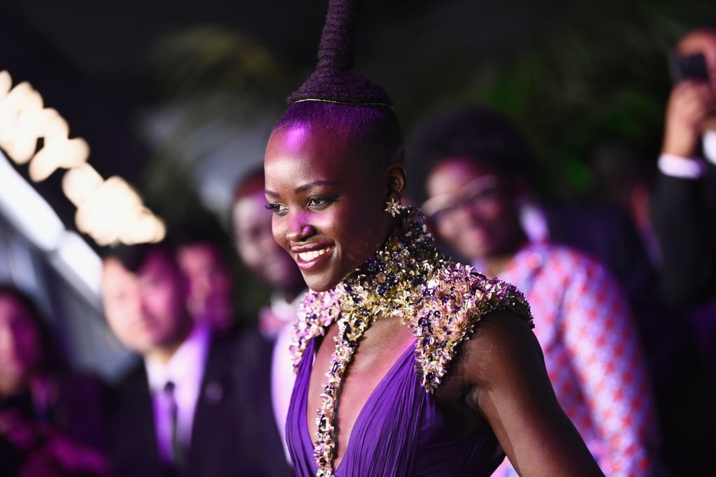The devastatingly beautiful stars of Black Panther hit the red carpet on Monday night for the film's LA premiere at Dolby Theare. Chadwick Boseman, Lupita Nyong'o, Michael B. Jordan, Danai Gurira, Angela Bassett, and Sterling K. Brown — who is fresh off a very successful award season run — all showed up in style, proving our theory that this movie has one of the best-looking casts in cinema history. Director Ryan Coogler (who is equally easy on the eyes) was also in attendance, posing for photos with Lupita. The highly-anticipated Marvel film doesn't hit theaters until Feb. 16, but it's already broken a huge record: within the first 24 hours of presales going live, Fandango revealed that it's now the bestselling Marvel Cinematic Universe movie in advance ticket sales, surpassing Captain America: Civil War. Keep reading to see photos from the star-studded premiere, then check out that insane trailer all over again.