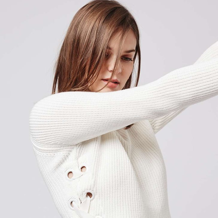Where to Buy Lace-Up Knitwear Online Shopping