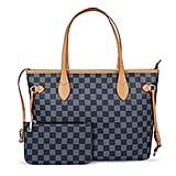 Lasperg Checkered Tote Shoulder Bag