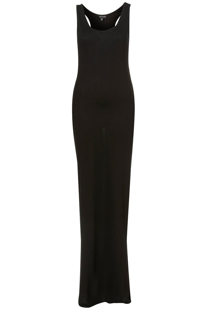 The kind of basic we could live in all season.  Topshop Racer Strappy Maxi Dress ($36)