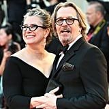 Gisele Schmidt  and Gary Oldman at The Laundromat Premiere