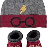 Harry Potter Baby Beanie Hat and Baby Bootie Socks Set