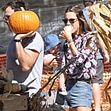 Alessandra Ambrosio kept cool with a snow cone.