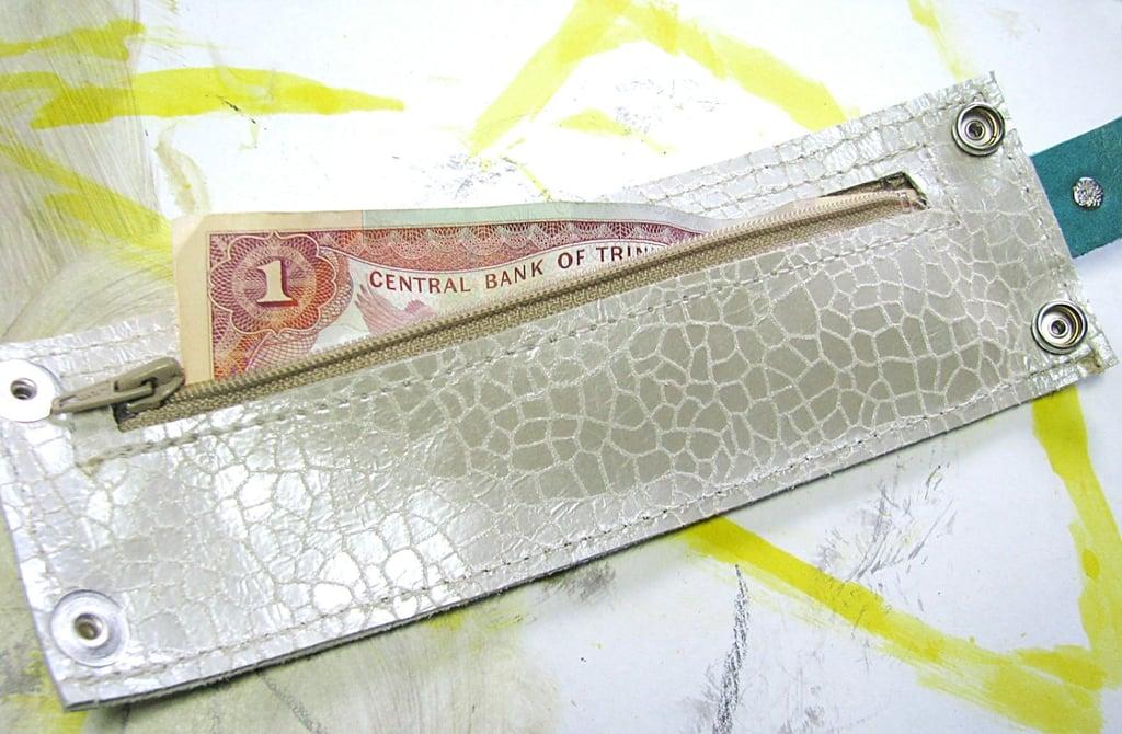 Wrist Wallet Cuff With Secret Pocket