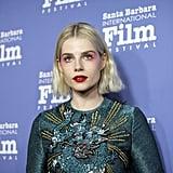 Lucy Boynton's Monochromatic Makeup, 2019