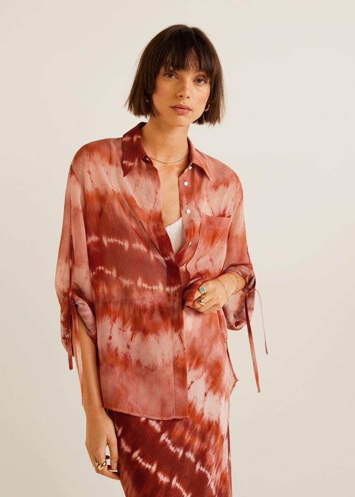 Mango tie-dye blouse