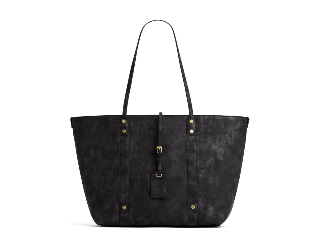 A+ Black Metallic Tote With Removable Pouch ($45)