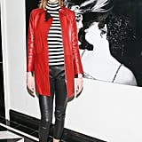 Karlie Kloss in a Striped Shirt