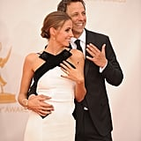 Newlyweds Seth Meyers and Alexi Ashe showed off their rings.