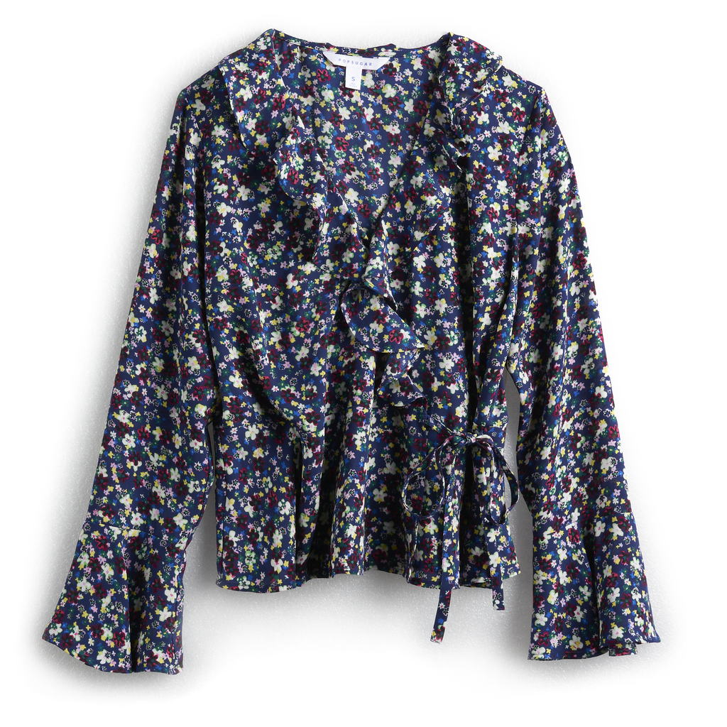 Ruffle Faux Wrap Top in Modern Liberty Floral