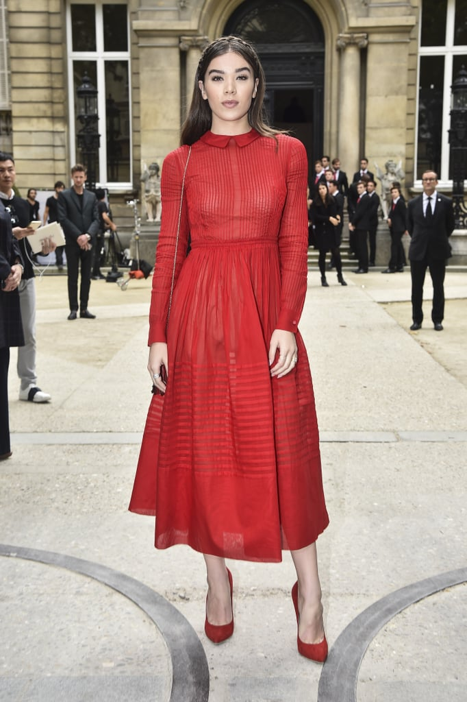 Like When She Wore This Bold Red Dress to Valentino's Spring '17 Show