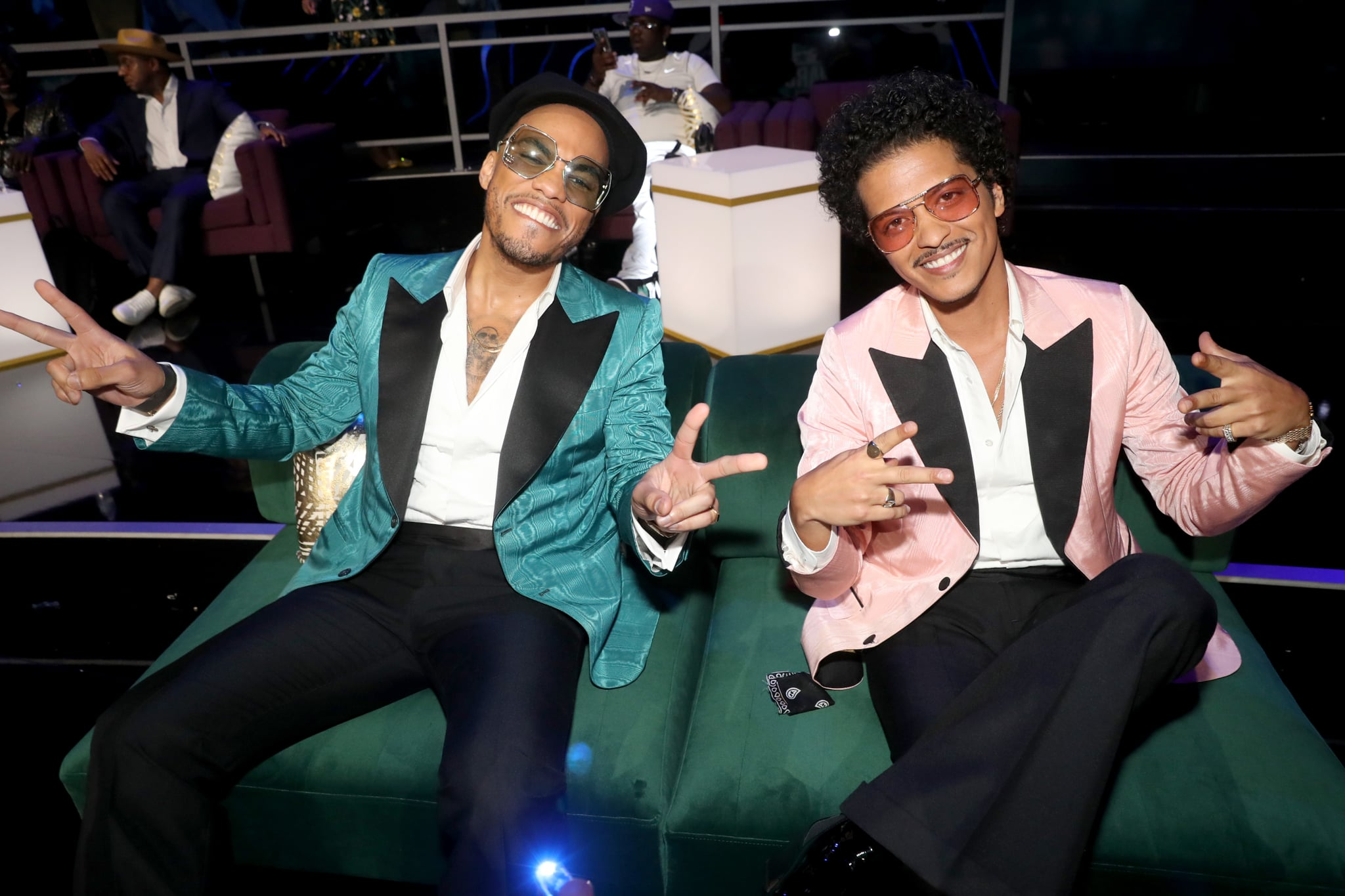 LOS ANGELES, CALIFORNIA - JUNE 27: (LR) Anderson .Paak and Bruno Mars attended the BET Awards 2021 at the Microsoft Theater on June 27, 2021 in Los Angeles, California.  (Photo by Johnny Nunez / Getty Photos for BET)