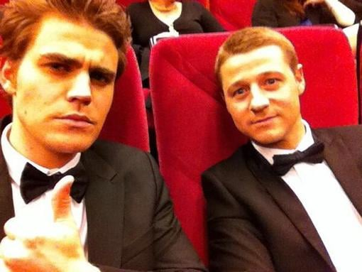 "Paul Wesley and Ben McKenzie went on a ""romantic date"" to see Behind the Candelabra. Source: Twitter user paulwesley"