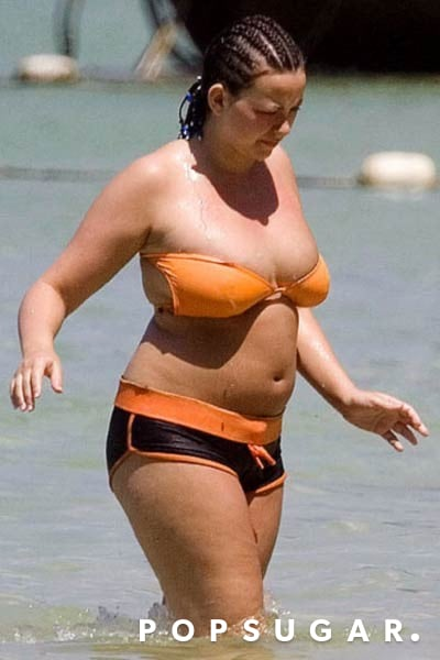Charlotte Church chose a bikini with boy shorts during a day at the beach back in 2007.