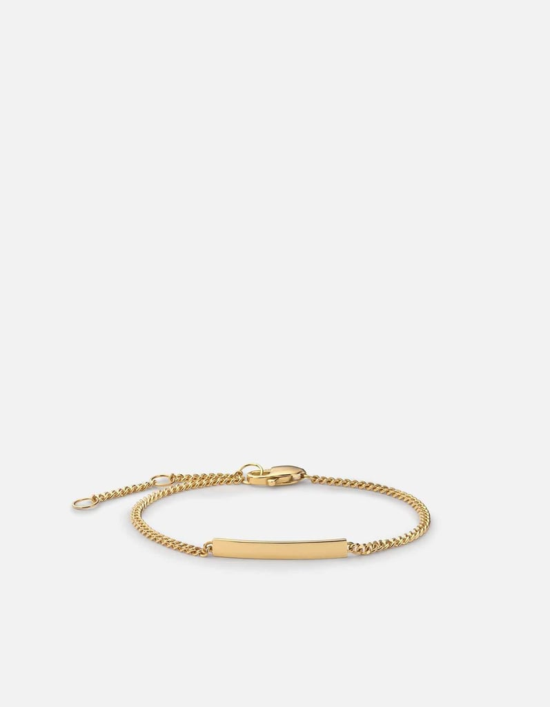 Miansai Mini ID Chain Bracelet, 14k Gold