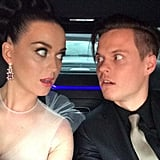 Katy Perry took a selfie with her date — her brother — on their way to the Grammys. Source: Twitter user katyperry