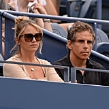 Ben Stiller and his wife, Christine Taylor, attended the US Open in NYC.