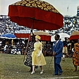 Queen Elizabeth II visits Ghana in 1960.