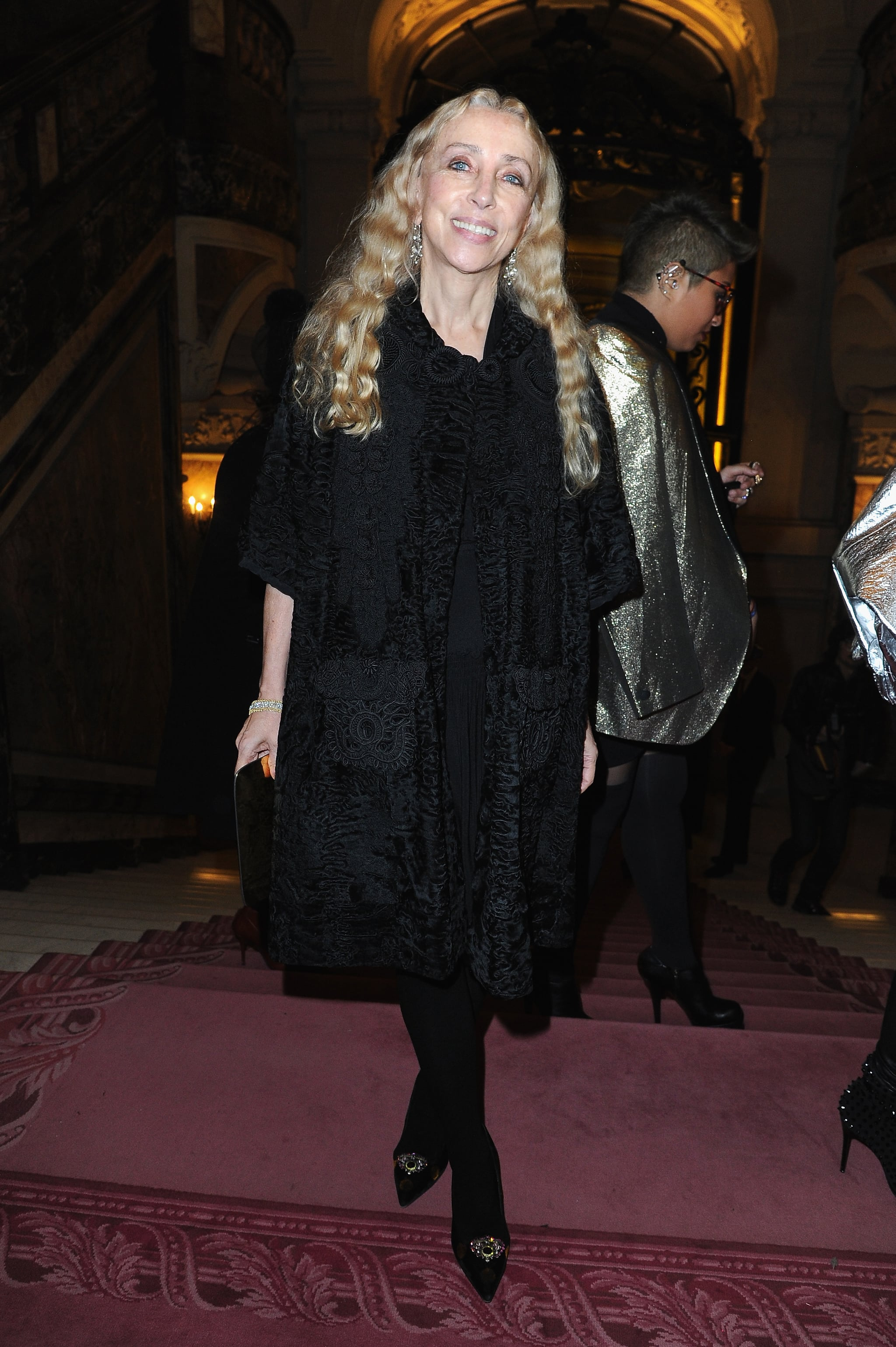 Franca Sozzani at the Atelier Versace Paris Haute Couture show.