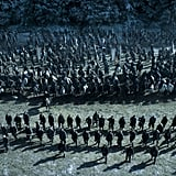 Soldiers from both sides prepare for battle.