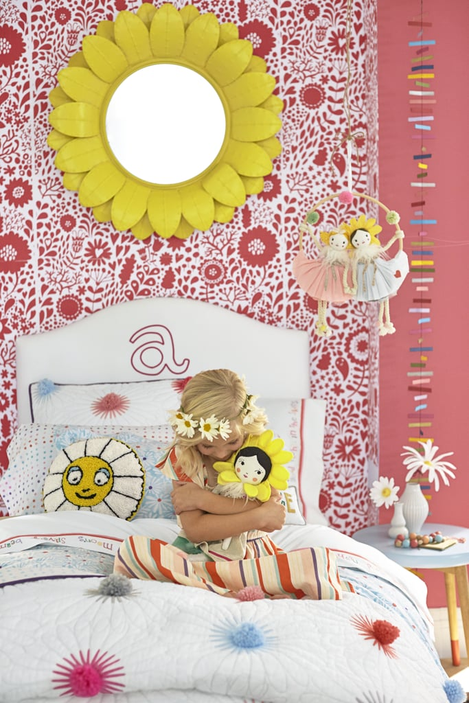 Margherita Missoni Yellow Daisy Mirror ($199), Margherita Missoni Stars & Stripes Garland ($19)