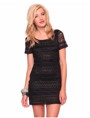 Opt to wear this as a dress or a tunic — either way, the sheer, lace detailing amps up the sultry vibe on your look.   Forever 21 Fitted Lace Dress ($23)
