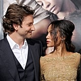 Bradley gave a loving look to then-girlfriend and The Words costar Zoe Saldana in 2012.