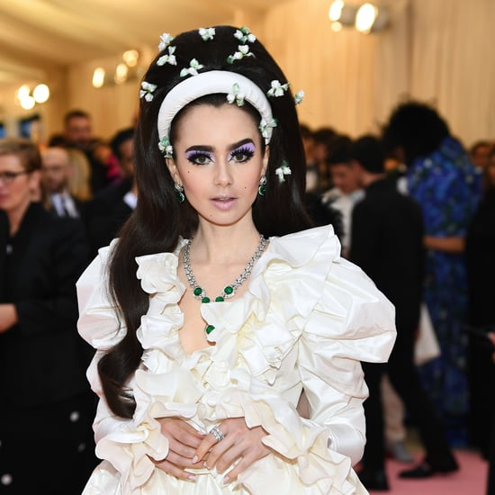 Lily Collins Met Gala 2019 Necklace Had a Security Guard
