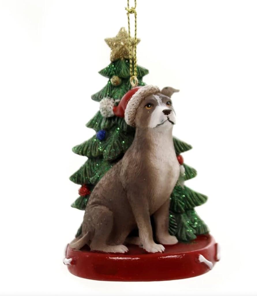 Kurt Adler Dog With Tree Ornament