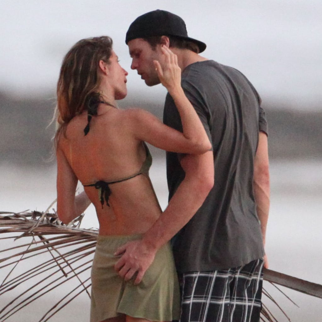 Gisele Bundchen kissed her husband Tom Brady.
