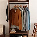 Iris Compact Wood Garment Rack