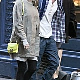 Tom Sturridge and Sienna Miller out in NYC.