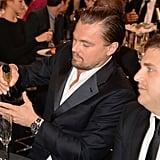 Leonardo DiCaprio poured himself some Champagne.