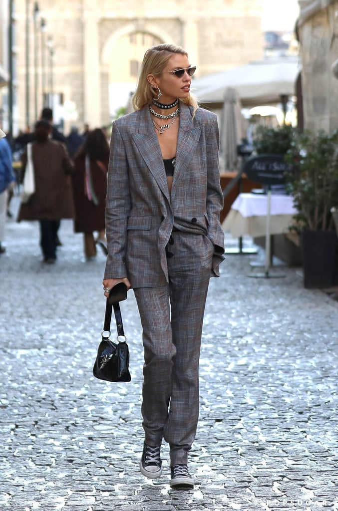 Stella Maxwell's Street Style at Milan Fashion Week