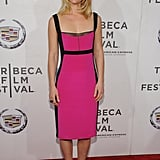 Claire Danes smiled on the red carpet of the premiere of Hysteria at the 2012 Tribeca Film Festival.