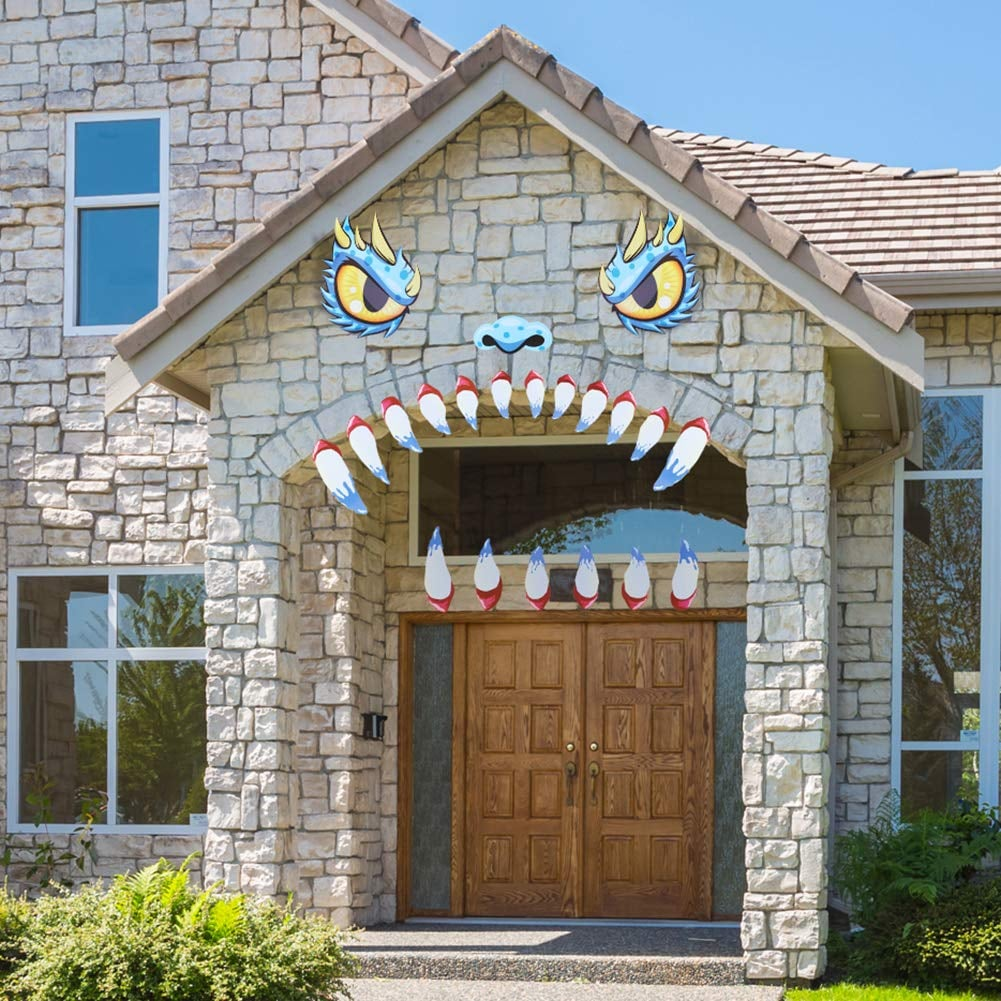 Unomor Halloween Decoration Garage Door Archway Monster Face
