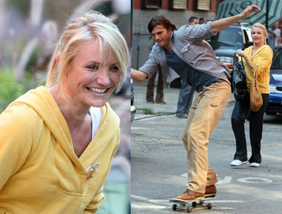 Ashton & Cameron Are All Smiles And Skateboards